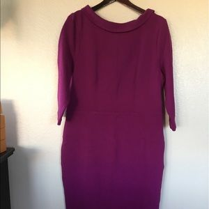 Boden modest magenta colored dress